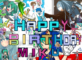 Happy 5th Birthday Miku X3 by MoonwolfYouthOtaku