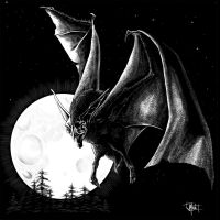 Giant Bat - Painted for the Dark Unknown by indigowarrior