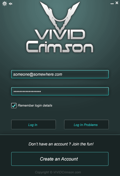Game Client Login Screen by MindCalamity