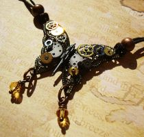Steampunk Filigree Butterfly by LaOubliette