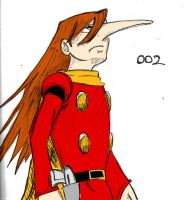 cyborg 002 sketch colored by TheMusicMagus