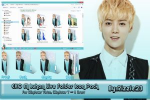 Exo M Luhan Live Folder Icon Pack by Rizzie23