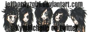 BlackVeilBrides chibis colored by KymmieCup