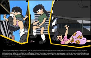 Tiny Mother Under Giantess Akiko's Shoe by DarkainArts