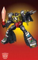 MP Grimlock with grid by Dan-the-artguy