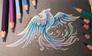 Ice     phoenix by AlviaAlcedo
