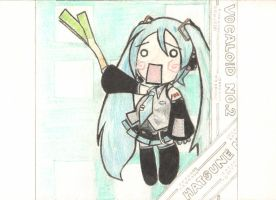 Hatsune Miku Drawing Card by italktotherain