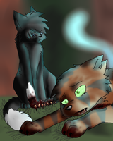 lawl, tigerstar died by KITTYclaws10