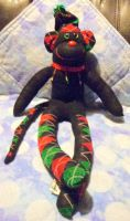 monkey holiday ruffle by wiccanwitchiepoo