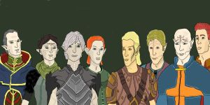 Dragon Age, Elves by Danmaro