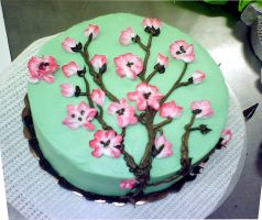 Cherry Blossom Cake by redhed66