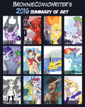 BrownieComicWriter's 2016 Summary of Art by BrownieComicWriter