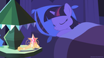 Sleeping Twilight from Equestria Girls movie by negasun