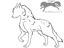 Free Wolf Lineart 2 by WolfWhisperer4Life