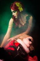 Poison Ivy and Harley Quinn II by Denna-le-Fay