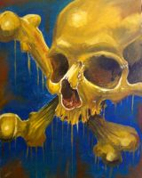 skull painting2 by justinstorm