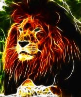 Fractalius Lion 2 by megaossa
