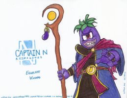 Captain N RE.- Eggplant Wizard by WMDiscovery93