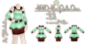 MMD Mint Peplum Dress by Tehrainbowllama