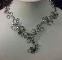 Funky Silver Bubble Handmade Necklace by varlasvault