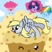 Derpy the Muffin Queen - Colored by TheShadowArtist100