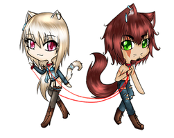 Red Collars of Fate by Daine-Hime