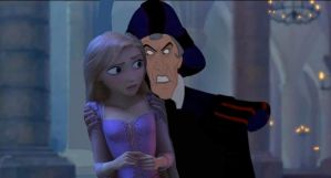 Rapunzel and Frollo by x12Rapunzelx
