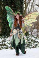 Mary Lotheriel in Giant Luna Moth Wings by FaeryAzarelle