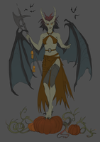 Halloween Succubus - sketch by telthona