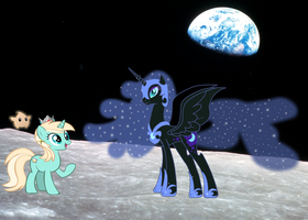 Rosalina meets Nightmare Moon by Serginh