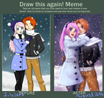 Draw this again meme: Vacation in white by cocosnowlo