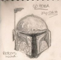 Boba Fett's Head by TheWuzzy