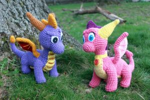 Dragons in the Grass by MilesofCrochet