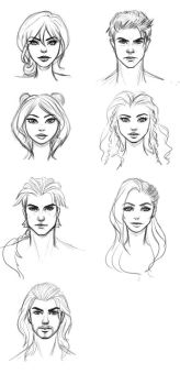 More Character Sketches by ArtOfRivana