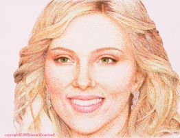 Scarlett Johansson (with highlighters) by YannickBouchard