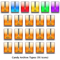 Candy Compressed Archive Types by nowhereman2k3