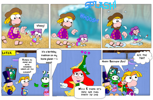 Rayman in Party at Joes - Chapter 1 Page 6 by Cuddlesnowy