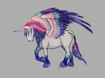 Ballpoint Winged Unicorn by shadee