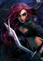 Katarina - League of Legends [ Fanart ] by kelly-Nantes
