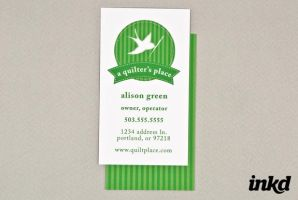 Quilt Shop Business Card by inkddesign
