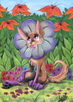 Flower dog by Chocolatechilla
