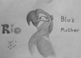 RIO: Blu's Mother by SammfeatBlueheart