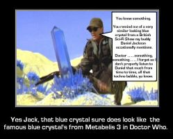 Stargate SG-1 - Blue Crystal from a certain Sci-Fi by DoctorWhoOne