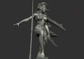 Koshka the WhiteSpeaker WIP 11 by HazardousArts