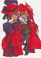 Madame Red and Grell Sutcliff by hope30789