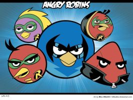 Angry Robins by BillWalko