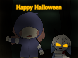 Pommy And Mona Infected Halloween by YoshiStar6822