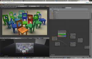 Blender node setup for the random chairs by chrishillman