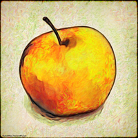 Digital Painting: An Apple a Day by UkuleleMoon