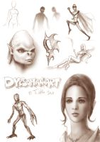 sketches 10 by dypsomaniart